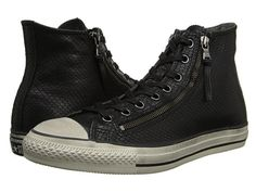 Converse by John Varvatos Chuck Taylor All Star Leather Double Zip Black Snake Black - Zappos.com Free Shipping BOTH Ways