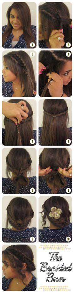 THE BRAIDED BUN-Top 15 Easy-To-Make Braids Tutorials