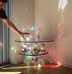 Interstellar Sparkle Table by John Foster Reality Shows, Interior And Exterior, Interior Design, Interstellar, Dream Rooms, Cocktail Tables, Light Art, Colorful Decor, My Room