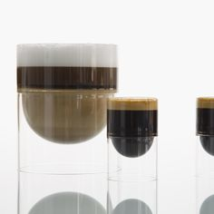 molo's line of float glassware available only on molostore.com. Insulated by a double wall of hand blown borosilicate glass, float red wine glass + float liqueur glasses are perfect for hot cappuccino and espressos.