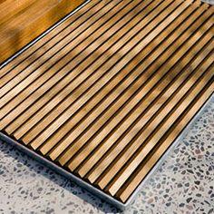 Teak Doormats Cherry Wood Furniture House Front Door Wooden Slats River Stones