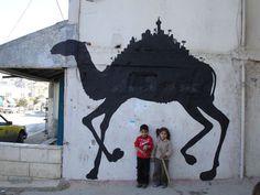 West Bank Occupied Territory, Graffiti Art, Banksy, 2005