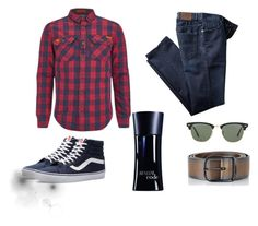 """Untitled #6"" by arnes-zabic ❤ liked on Polyvore featuring Superdry, Diesel, Ray-Ban, Vans, Giorgio Armani, men's fashion and menswear"