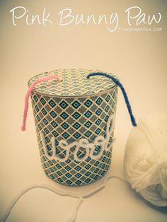 Wool Yarn Dispenser Bunny Paws, Wool Yarn, Diy Crafts, Organization, Display, Crafty, Projects, Pink, Decor