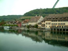 Travelling Backflip -Switzerland Places In Switzerland, River, Mansions, Country, House Styles, Travelling, Manor Houses, Rural Area, Villas