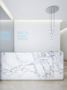 View the full picture gallery of Private Dental Clinic Dental Office Decor, Medical Office Design, Modern Office Design, Healthcare Design, Dental Reception, Reception Desk Design, Office Reception, Clinic Interior Design, Clinic Design