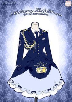 Military Loli Winter Dress by *Neko-Vi on deviantART