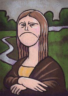New funny face illustration mona lisa Ideas Monnalisa Kids, Mona Lisa Parody, Mona Lisa Smile, Face Illustration, Italian Artist, Funny Faces, Christmas Humor, Pop Art, Artwork
