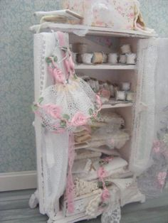 Dolls house miniature lace cupboard by juliedeighton on Etsy