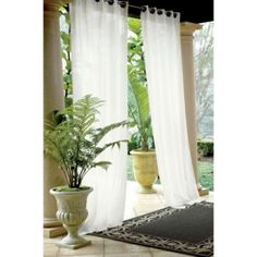 Need porch curtains and outdoor drapery? Get privacy porch curtains and outdoor drapery to beautify and screen any patio or deck at Ballard Designs! Outdoor Drapes, Outdoor Rooms, Indoor Outdoor, Outdoor Living, Outdoor Decor, Outdoor Kitchens, Outdoor Furniture, Porch Curtains, Courtyards