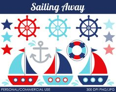 Sailing Away Clipart  Digital Clip Art Graphics by MareeTruelove, $5.00