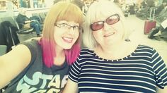 Me and mum. Waiting on the flight to Florida, May 2016