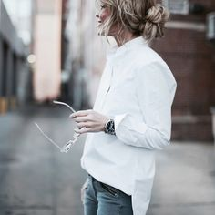 Fancy - Le Tunic Oxford Shirt by Frame Denim