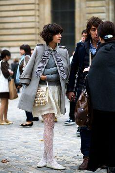 Eva looking very Paris-appropriate.