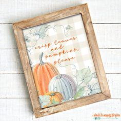 These Six Fall Farmhouse Printables come in two watercolor looks: neutral and green buffalo check. Perfect for your autumn decor. Plaid Living Room, Basic Painting, Free Stencils, Autumn Painting, Fall Pictures, Buffalo Check, Art Drawings Sketches, Painted Signs, Fall Decor