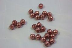 Cuentas de cristal - Bola cristal marrón 8 mm.