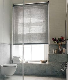 Roller Shades Naturals - Practical and stylish. Shown in material Jackson, color cafe. | The Shade Store