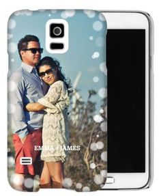 Bokeh Frame Samsung Galaxy Case, Slim case, Glossy, Samsung Galaxy S5, White