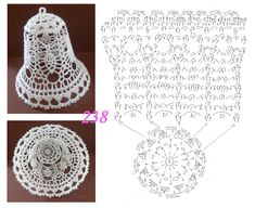 New Crochet Christmas Baubles Cross Stitch Ideas Crochet Christmas Decorations, Crochet Decoration, Crochet Ornaments, Christmas Crochet Patterns, Holiday Crochet, Crochet Snowflakes, Crochet Diagram, Filet Crochet, Crochet Motif