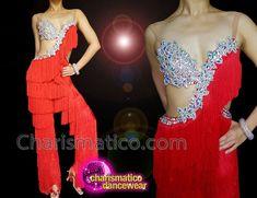 Charismatico Dancewear Store - Charismatico Red Floral Crystal Dance Latin Salsa samba Fringe Pants, €191.41 (http://www.charismatico-dancewear.com/charismatico-red-floral-crystal-dance-latin-salsa-samba-fringe-pants/)