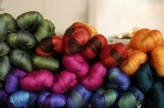 Sweet Georgia hand dyed yarn - lush!