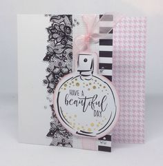 Card decorated with Fabulous Fashionista collection. Card designed by Julie Hickey Craftwork Cards Christmas, Christmas Cards, Girly Things, Girly Stuff, Dress Card, Craft Work, Cardmaking, Birthday Cards, Projects To Try