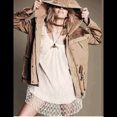 Hp  Free People Tapestry Hooded Parka