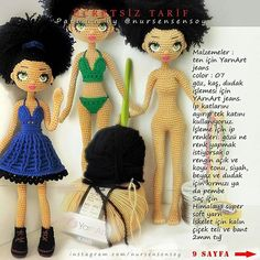 Crochet Doll Pattern, Crochet Dolls, Knit Crochet, Crochet Hats, Amigurumi Patterns, Amigurumi Doll, New Dolls, Crochet Fashion, Crochet Stitches