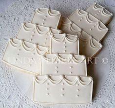 Traditional Wedding Cake Cookies 1 Dozen by LindasEdibleArt