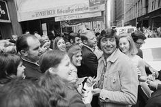 girls flock to the Jets' Joe Namath for his autograph, May 26. — Image by © Bettmann/CORBIS