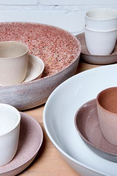 Gorgeous blush pink and soft terracotta ceramics - perfect colour inspiration