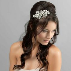 Precious Extravagance Side Tiara Hairdo Weddingwedding Hair
