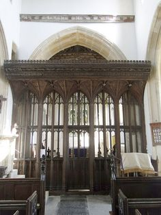 High Ham, Rood Screen (1499) from nave.