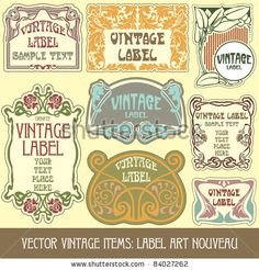 Vector Download » vector vintage items: label art nouveau - » Free Vector Graphics free download and share your vector