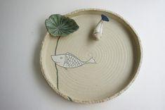 연잎수반에 물담그고 도자기 물고기 키우기 : 네이버 블로그
