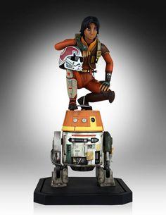Star Wars Rebels Ezra with Chopper Maquette 2