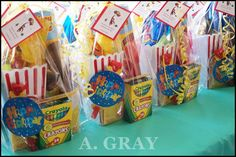 DIY Curious George Birthday Party Gift Bags.