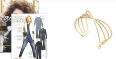 #MelissaKayeJewelry Veronica #bracelet in #18k yellow #gold with #diamonds featured in Elle Magazine #jewelry #finejewelry #yellowgold #ElleMagazine #Elle #magazine #fashion #style @elle