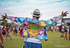 The coolest painted jacket at Coachella 2014