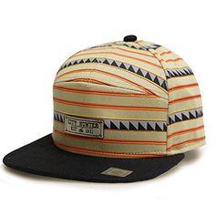 9213a2e4b50 City Hunter Cs341 Mexican Pattern 7 Panel Snapback Hats - Khaki City Hunter  http