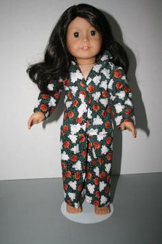 American Girl Doll Clothes-Halloween Cotton Ghosts Print Pajamas