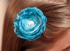 DIY Fabric Flower Hair Clips and Headbands! #barrettes