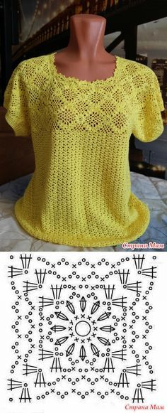The combined top from 'Тропиканы' - Knitting - the Country of Mothers