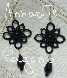 Orecchini total black