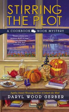 Stirring the Plot (A Cookbook Nook Mystery) by Daryl Wood Gerber,http://www.amazon.com/dp/0425258068/ref=cm_sw_r_pi_dp_aNCutb190NMGMZE1