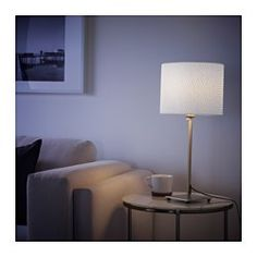 IKEA - ALÄNG, Table lamp, nickel plated/gray, , The height is adjustable to suit your lighting needs.
