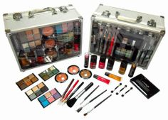 MONSTER BUNDLE FULL OF MAKEUP PLUS FREE CARRY CASE!!!!!! SHANY Cameo Cosmetics Carry All Trunk Makeup Kit with Reusable Aluminum Case Exclusive Holiday Gift Set: Beauty