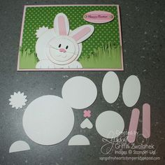 Stampin' Up! ... handcrafted punch art Easter bunny ... photo with the punched parts needed ...