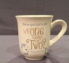 Disney Hallmark Exclusive Beauty And The Beast One Lump Or Two Mug ...