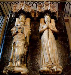 Navarra: catedral de pamplona sepulcro - Carlos III el noble y Leonor de Castilla